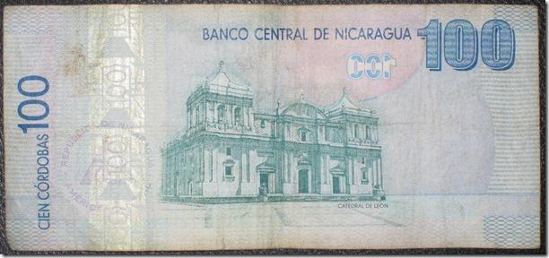 100 Cordoba note (about $4.50)