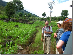 Our guide Harold telling us about the rice field