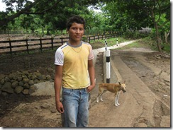 Our young guide, Jason & his dogs