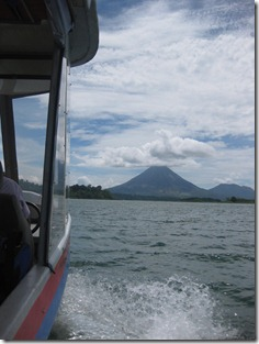 Crossing Lake Arenal-The view of the volcano