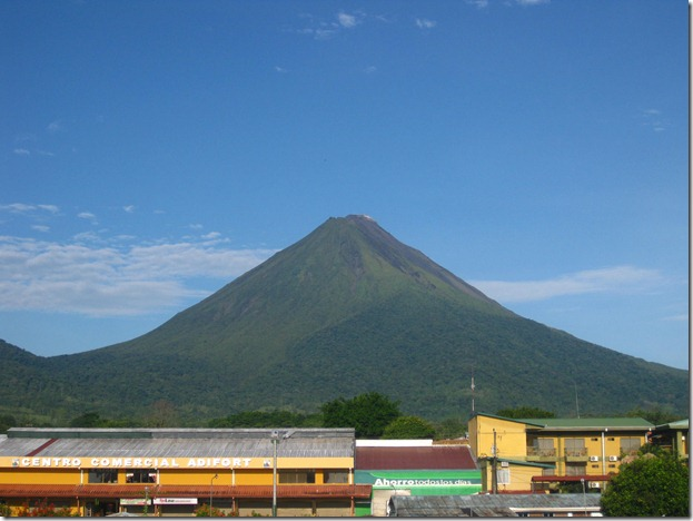 Clear sight of the volcano