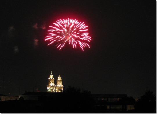 Enjoying the Saturday night fireworks