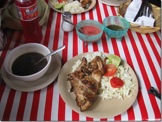Grilled chicken lunch