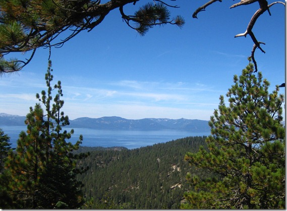 Lake Tahoe from Spooner Summit trail