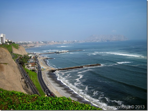 Beautiful clear view in the afternoon, Miraflores, Lima