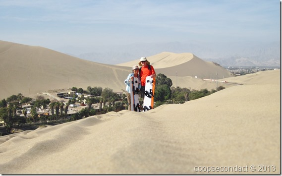 Huacachina view from the sand dune