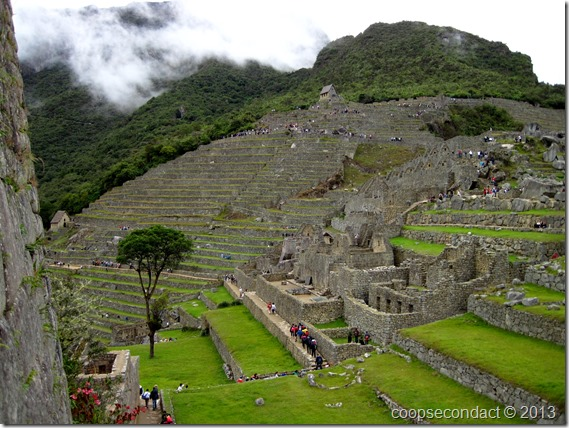 Machu Picchu - looking back to the Hut of the Caretaker