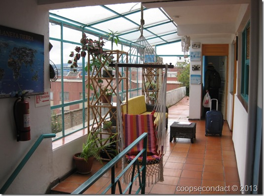 Casa Bambu, our room with a nice bright sitting area