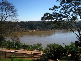 Parana River-Paraguay on the other side