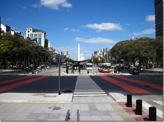 Avenida 9 de Julio and the Obelisco