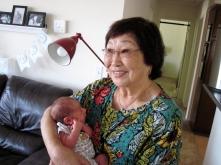Tad and great-grandma Mae