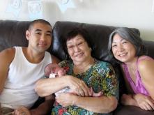 Tad, father Jason, grandmother Valerie, great-grandmother Mae