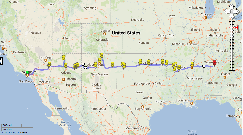 Road Trip 2013/2014 | Second Act Detailed Map Of Interstate United States on google maps interstate 40, arkansas interstate 40, north carolina interstate 40, illinois interstate 40,
