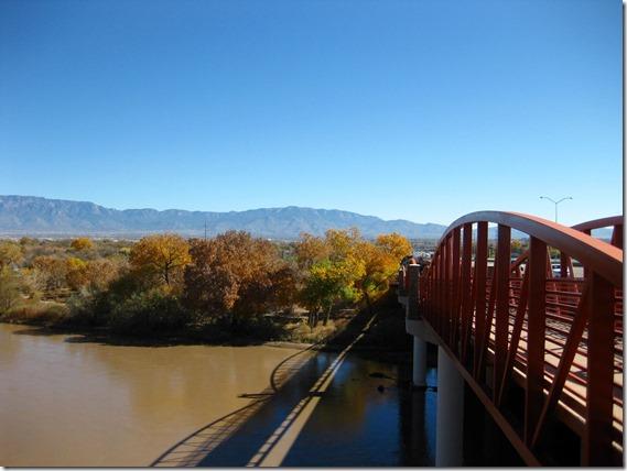 Walk/bike bridge across river