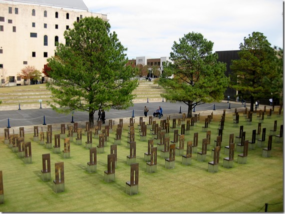 """Field of Empty Chairs"" - Oklahoma City Memorial"