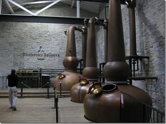 Woodford Reserve Distillery - copper stills