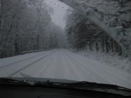 Snowfall in West Virginia
