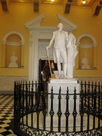 Marble statue of George Washington