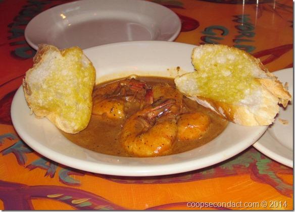 Barbequed shrimp