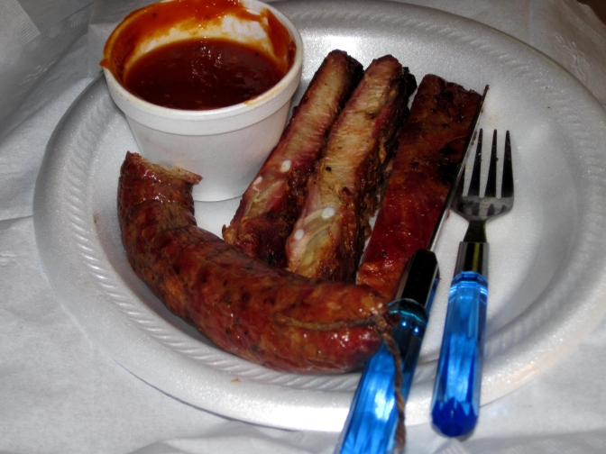 Ribs and sausage