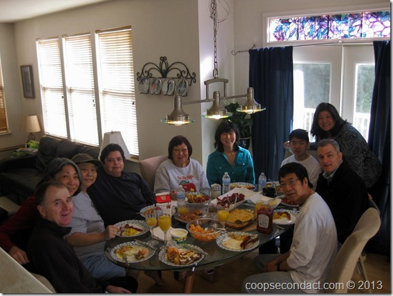 Morita Christmas breakfast