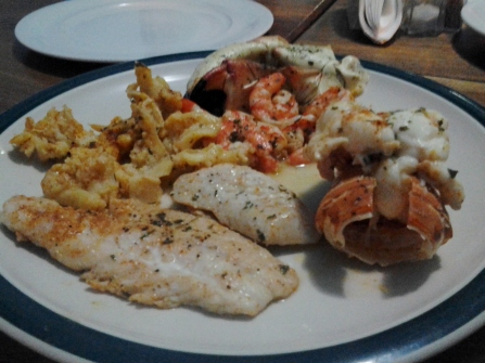 Fish, shrimp and lobster