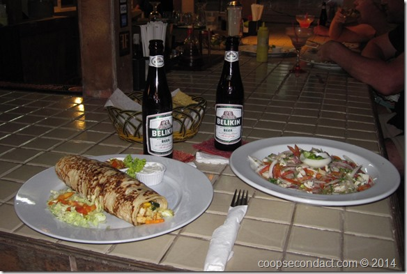 Conch Ceviche and Fish Burrito
