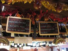 Cicchetti menu