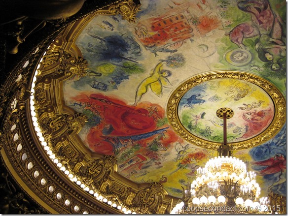 Ceiling, painted by Marc Chagall