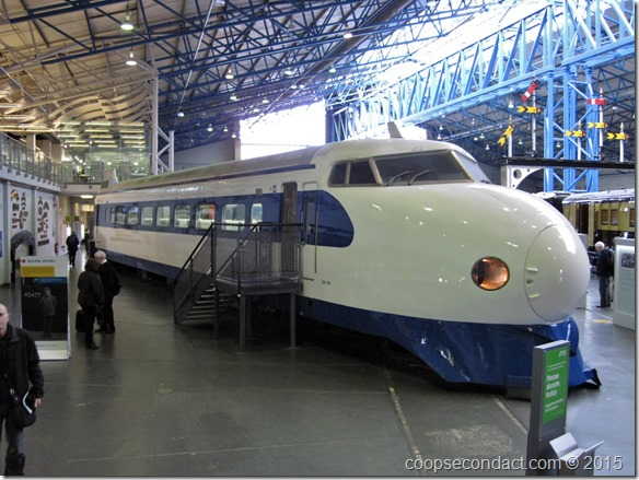 National Railway Museum - only Japanese bullet train outside of Japan