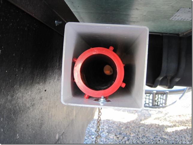 Sewer hose inside