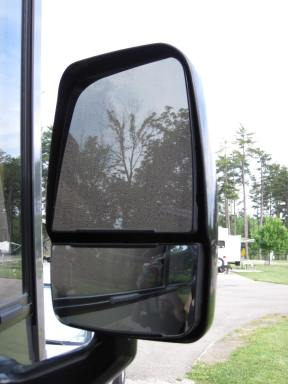 Front of mirror