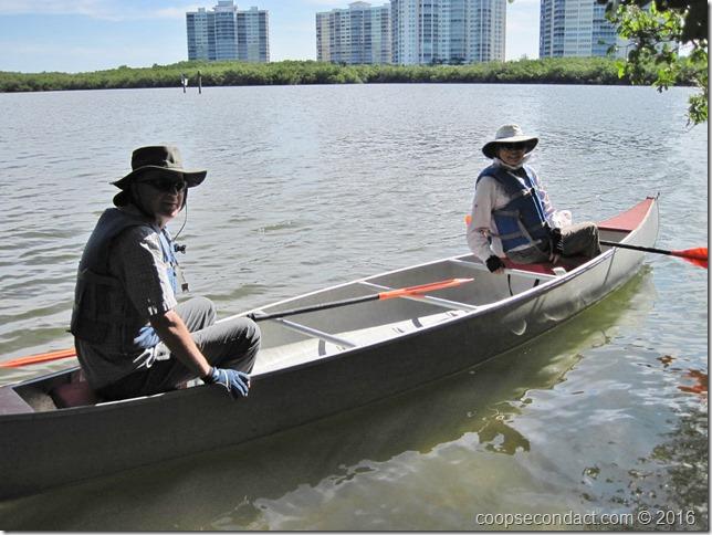 Ready to canoe on Turkey Bay