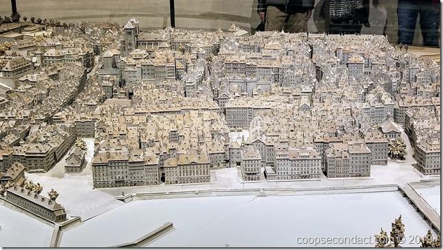 Relief model of Geneva Old Town