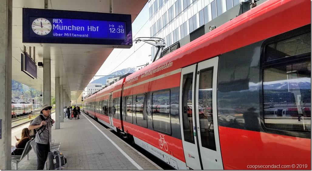Train Innsbruck to Munich