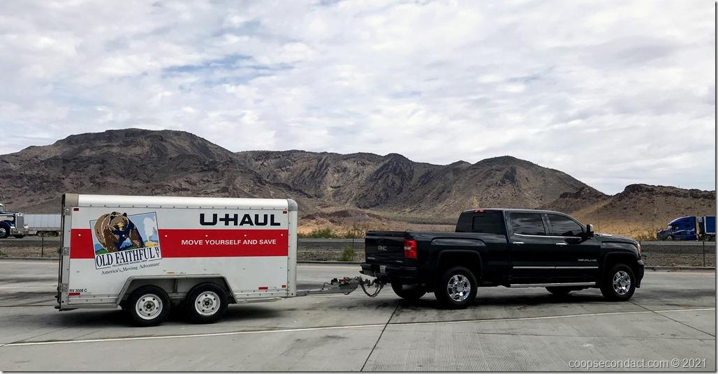 Truck and U-Haul Trailer
