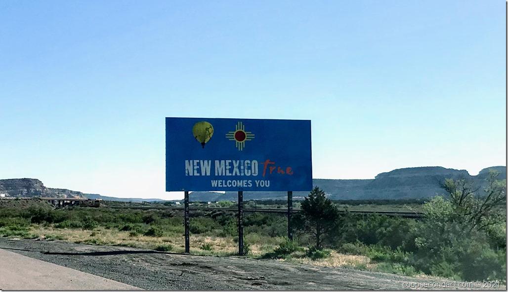Entering New Mexico